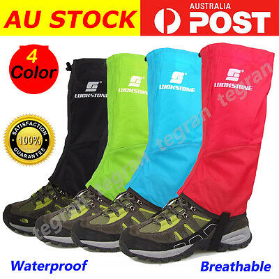 2 pairs Men's Outdoor Hiking Hunting Snow Snake Waterproof Boots Legging Gaiters