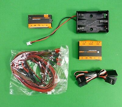 Infrared Wire Less Ultra bright Headlight, tail light,indicator kit for 1:10 RC