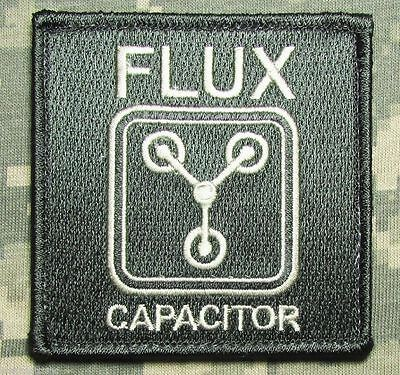Flux Capacitor Back To Future Military Acu Light Patch W/ Velcro® Brand Fastener