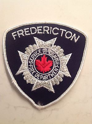 Canada Fire Department Patch Fredericton