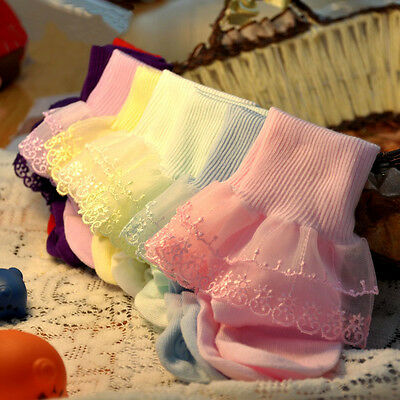 Cute Baby Kids Breathable Soft Cotton Children Lace Toddler Girls Socks