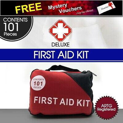 101 PCS Premium First Aid Kit For Every Family Car Office Boat Camping AU Stock