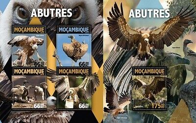 Z08 IMPERFORATED MOZ16127ab MOZAMBIQUE 2016 Vultures MNH Set