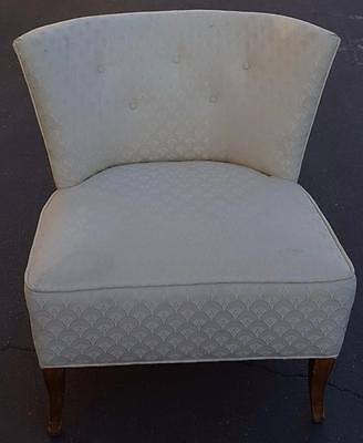 Vintage Mid Century Modern Accent Chair - Great Embossed Fabric - VGC - STYLISH