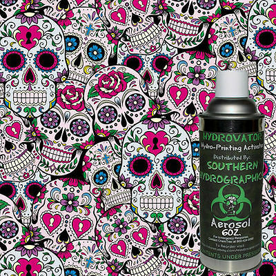 Hydrographic Film Water Transfer Hydro Dip 6Oz. Activator Sugar Skulls Kit