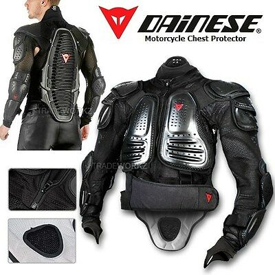 DAINESE D1 Air Silver Light Wave Motorcycle Jacket Body Armor Chest Protector