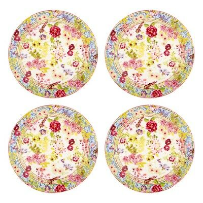 NEW Gien Millefleurs Canape Plate Set 4pce