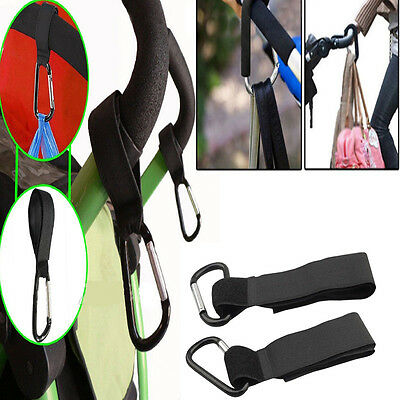 2Pc Universal Buggy Mummy Pushchair Pram Stroller Hook Shopping Bag