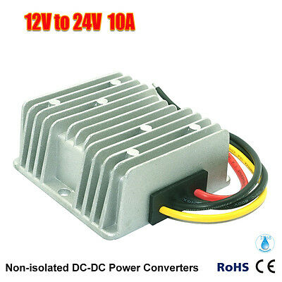 New Waterproof DC/DC Converter Regulator 12V Step UP To 24V 10A 240W US Seller