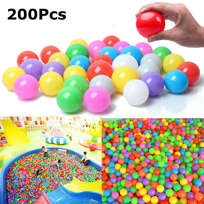 200pcs 4cm Soft Plastic Color Ocean Fun Ball Baby Kid Toy Water Swim Pit Slide