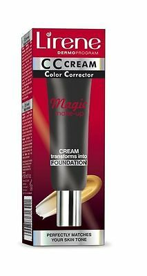 Lirene Magical Make-Up CC Cream Anti Aging 2in1 Matches All Skin Tone 30 ml