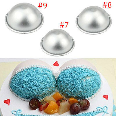 New Bath Bomb Baking Mold Cake Pan 3D Aluminum Ball Sphere Craft Mould Bakeware