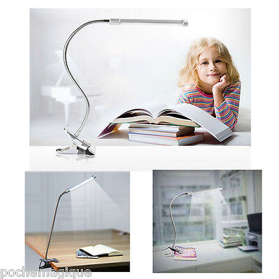NEW Adjustable Flexible Clamp Clip On LED Craft/Reading Table Desk Lamp Light UK