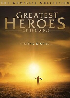 Greatest Heroes Of The Bible: Complete Collection (2015, DVD NEUF)4 DISC SET