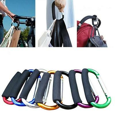 1x Universal Large Buggy Mummy Clip Pram Pushchair Shopping Bag Hook Carabiner