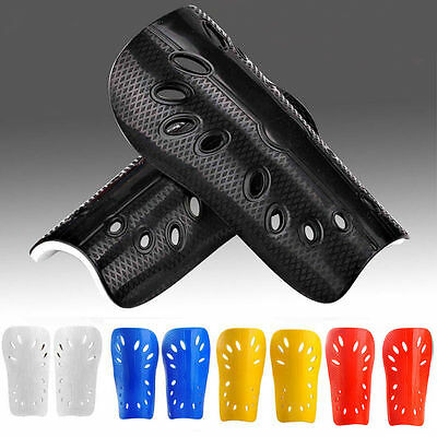 A Pair of Football Soccer Shin Guard Pads Leg Protector Support For Men Children