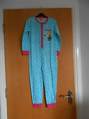 Great Girls Minion Despicable Me Sleepsuit, BNWT, Turquoise, So cute!!!