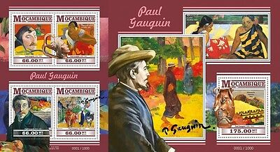 Z08 Imperforated MOZ15426ab MOZAMBIQUE 2015 Paul Gauguin MNH Set