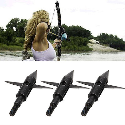 New Aluminium 3 Pcs Hunting Arrow Tips Boardhead Archery Arrowhead Points