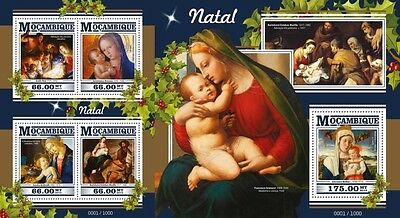 Z08 Imperforated MOZ15421ab MOZAMBIQUE 2015 Christmas MNH Set