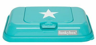 FunkyBox Wipes Box/Container/Box Travel Size - Turquoise