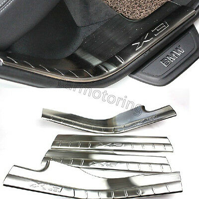 Stainless Steel Door Covers Protector Sill Plates Trims Fit For BMW X3 F25 2013