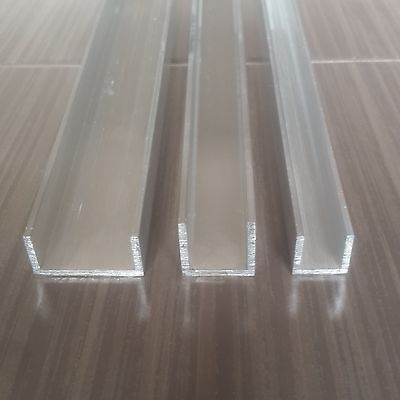 ALUMINIUM U PROFILE CHANNEL Choose a SIZE & LENGTH