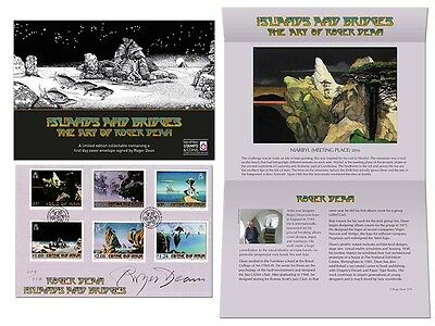 Roger Dean Limited Edition Signed First Day Cover Gift (UM95)