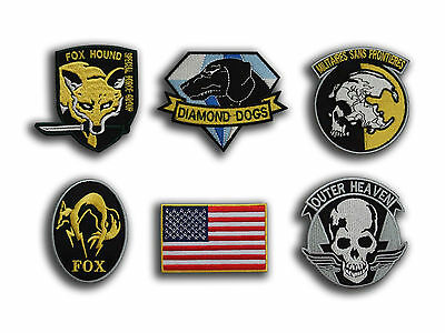 Metal Gear Solid Cosplay Airsoft BADGE THERMOCOLLANT PATCH ENSEMBLE , 6 Brodés