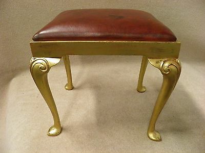 Antique Queen Anne Style Gilt Wood Stool