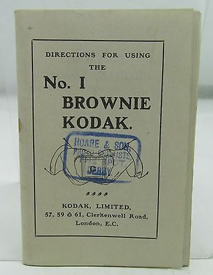 KODAK BROWNIE CAMERA No.1 ANTIQUE PHOTOGRAPHY INSTRUCTION BOOKLET 1ST MODEL 1908