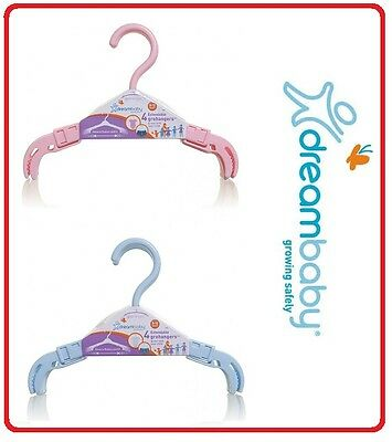 ❤ DREAMBABY Dream Baby EXTENDABLE GROHANGER 4 PACK BLUE PINK HANGERS ❤
