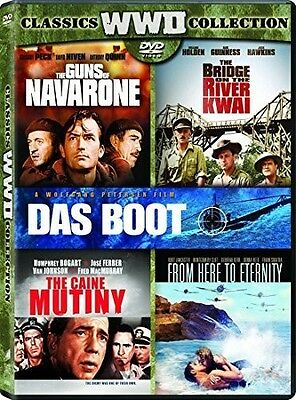 Bridge On The River Kwai / Caine Mutiny / Das Boot (2016, DVD NEUF)5 DISC SET