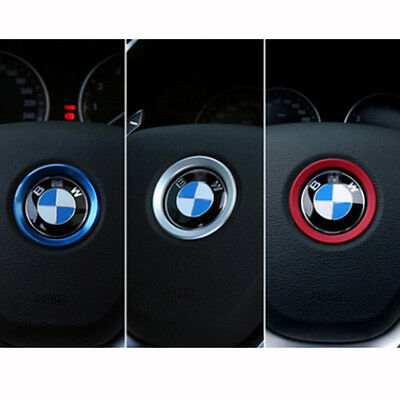 For BMW 1 3 5 Series X3 X6 Steering Wheel Center Ring Cover Decoration Trim Blue