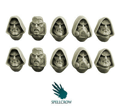 Spellcrow - Space Knights Hooded Heads - SPACE BROTHERHOOD BITS