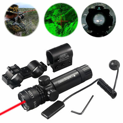 For Rifle Remote Switch 2Mounts Tactical 650nm Red Laser Dot Scope Sight Hunting