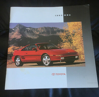 1993 Toyota MR2 Original Car Dealer Sales Prestige Brochure Prospekt