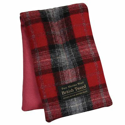 Aroma Home Soothing Luxury Red Plaid Tweed Merino Comforting Wool Body Wrap