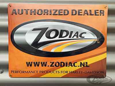ZODIAC METAL EMBOSSED AUTHORIZED DEALER SIGN 40 X 30CM MAN-CAVE /SHED bc37791 T