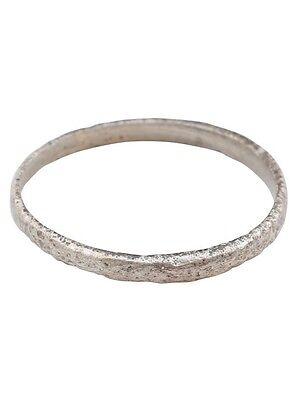 Ancient Viking Wedding Ring Silver over bronze  C.900A.D. Size 7 1/4  (17mm) [PW
