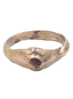 Ancient Roman Woman's Wedding Ring C.100-300 A.D.  Size 9 1/2  (19.3mm)[PWR822]