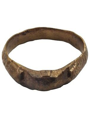 Ancient Roman Womans Wedding Ring C.100-300 A.D.  Size 8 (18mm)[PWR1075]