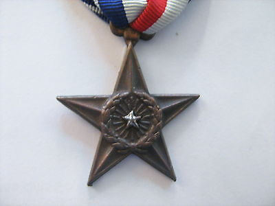 USA    MEDAILLE MILITAIRE AMERICAINE   SILVER STAR    FABRICATION LOCALE?  asie?