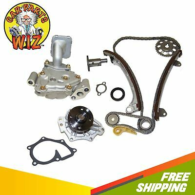 Timing Chain Water Pump Oil Pump Kit Fits 01-09 Toyota 2.0L 2.4L DOHC 16v 2AZFE