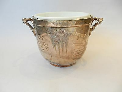 Antique Sheridan Taunton Silversmiths Ltd Silver Plate Champagne Ice Bucket