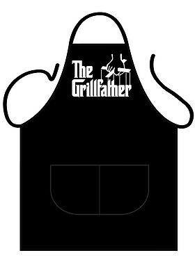 Mens/womens,black Novelty Apron, Bbq, The Grillfather