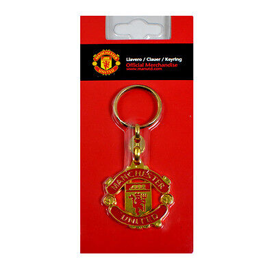 Manchester United Fc Gold Crest Metal Keyring Key Ring Keychain New Gift Xmas