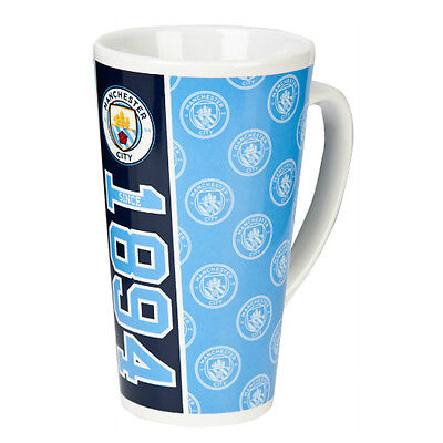 Manchester City Fc Established Latte Coffee Tea Mug Ceramic Cup New Xmas Gift