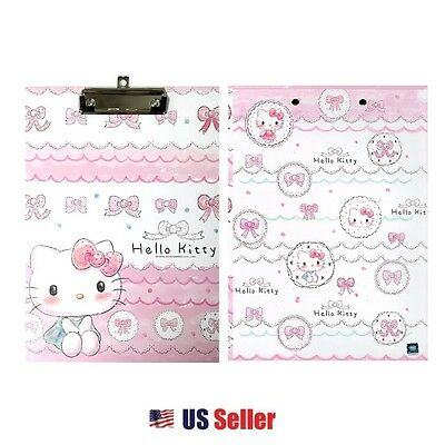 Sanrio Hello Kitty Hard Board Clip Board : Pink Ribbon Hello Kitty Sketch
