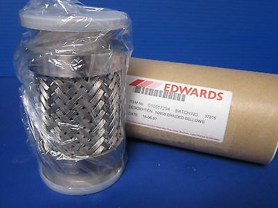 """Edwards C10517294  Braided Flexible Bellows NW50, 5.5"""" Length, NEW"""